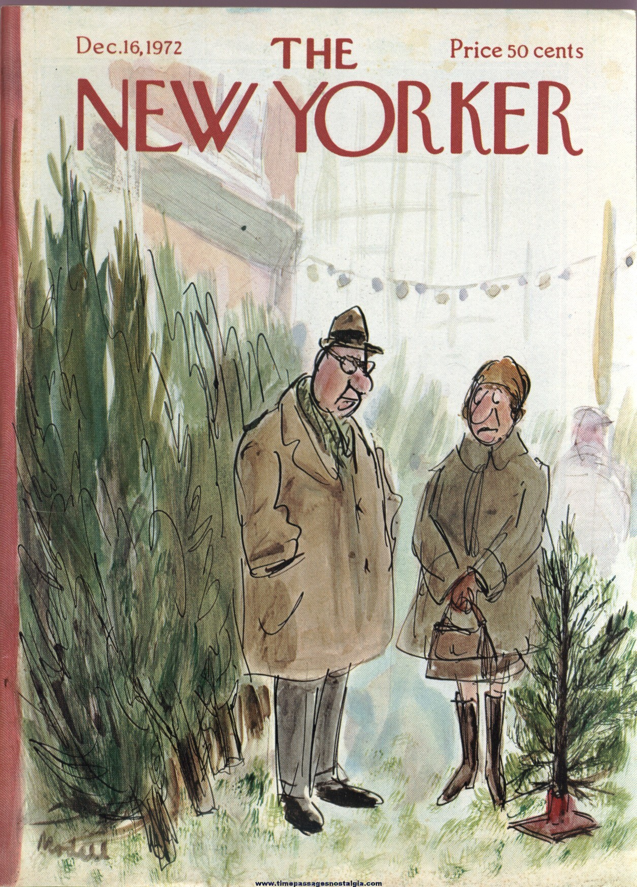 New Yorker Magazine - December 16, 1972 - Cover by Frank Modell