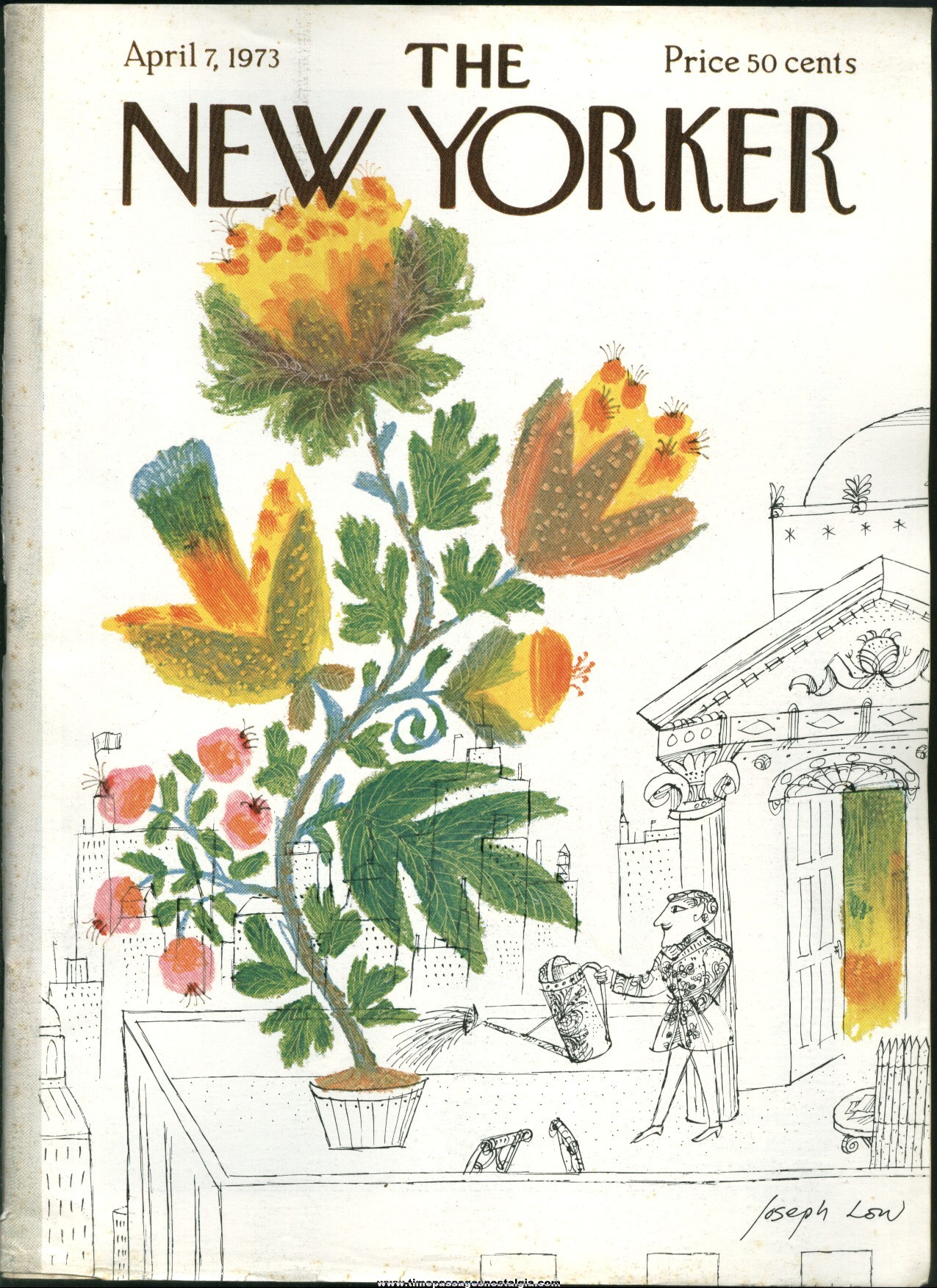 New Yorker Magazine - April 7, 1973 - Cover by Joseph Low