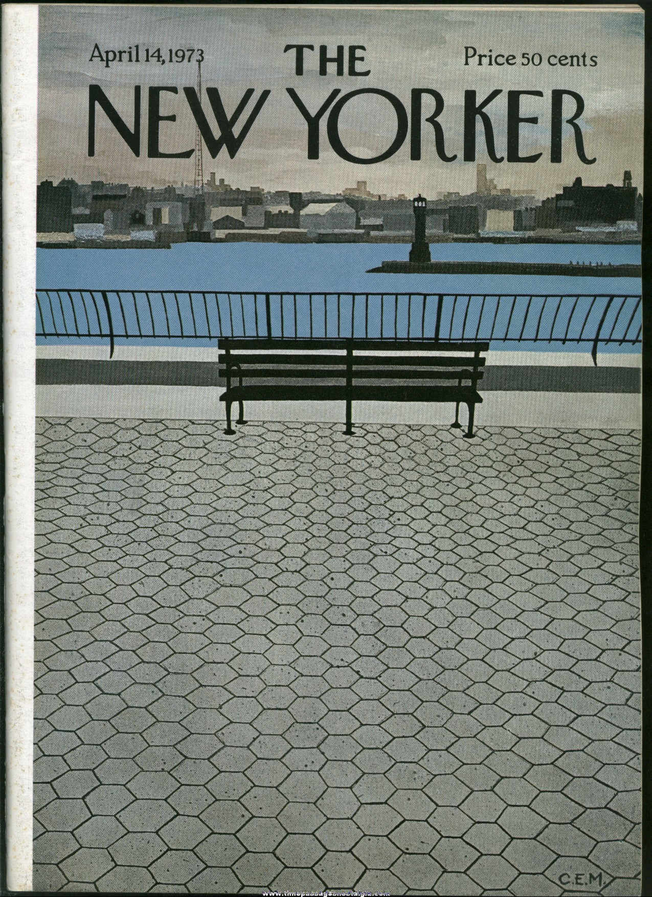 New Yorker Magazine - April 14, 1973 - Cover by Charles E. Martin