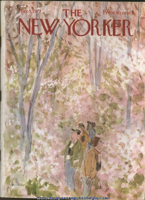 New Yorker Magazine - May 5, 1973 - Cover by James Stevenson