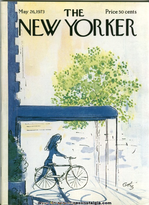 New Yorker Magazine - May 26, 1973 - Cover by Arthur Getz