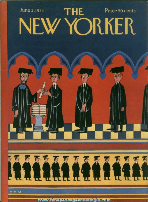 New Yorker Magazine - June 2, 1973 - Cover by Charles E. Martin