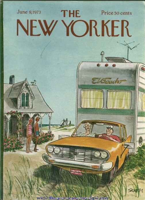 New Yorker Magazine - June 9, 1973 - Cover by Charles Saxon