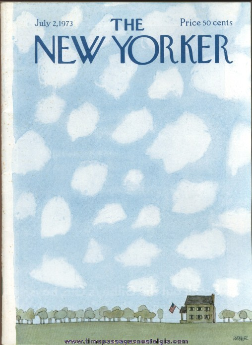 New Yorker Magazine - July 2, 1973 - Cover by Robert Weber