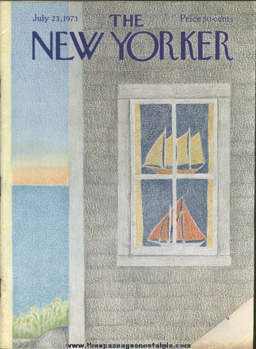 New Yorker Magazine - July 23, 1973 - Cover by Charles E. Martin