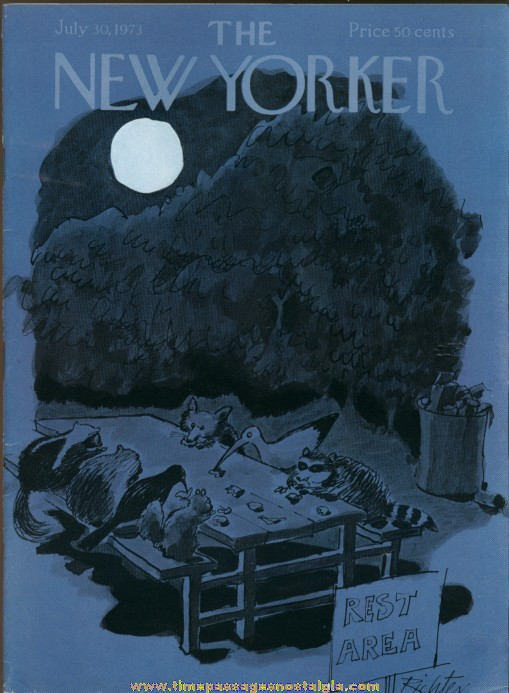 New Yorker Magazine - July 30, 1973 - Cover by Mischa Richter