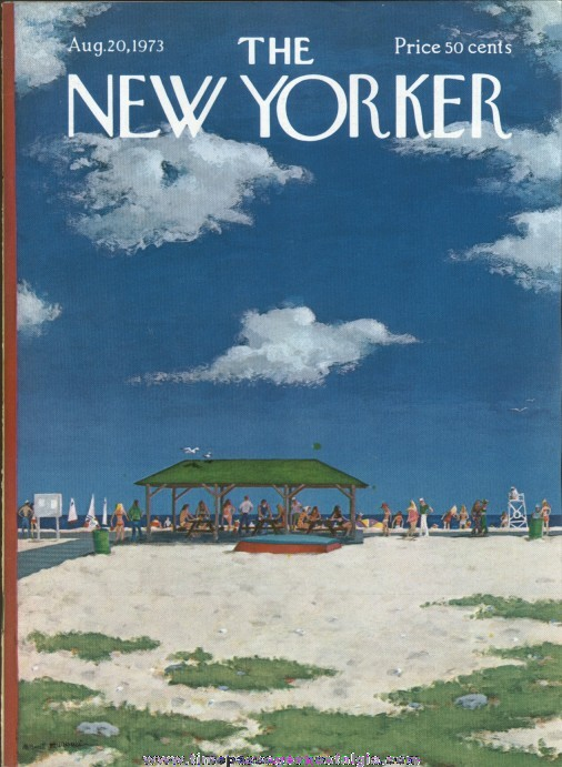 New Yorker Magazine - August 20, 1973 - Cover by Albert Hubbell