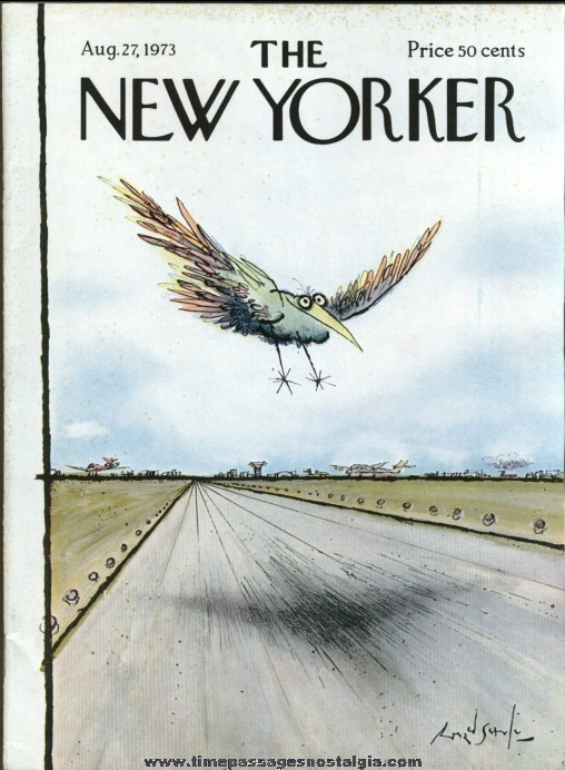 New Yorker Magazine - August 27, 1973 - Cover by Ronald Searle