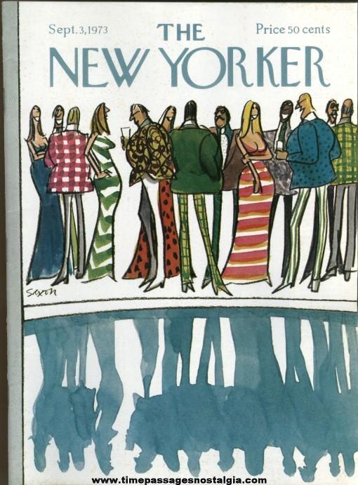 New Yorker Magazine - September 3, 1973 - Cover by Charles Saxon