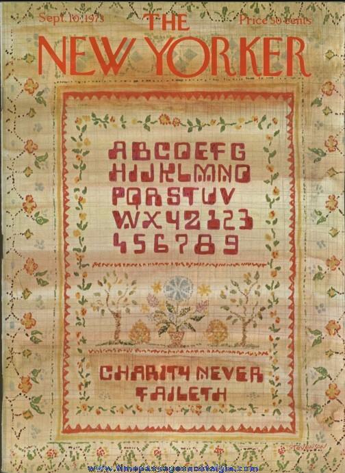 New Yorker Magazine - September 10, 1973 - Cover by James Stevenson