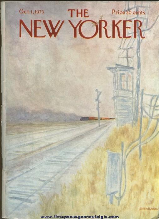 New Yorker Magazine - October 1, 1973 - Cover by James Stevenson