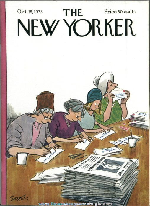 New Yorker Magazine - October 15, 1973 - Cover by Charles Saxon