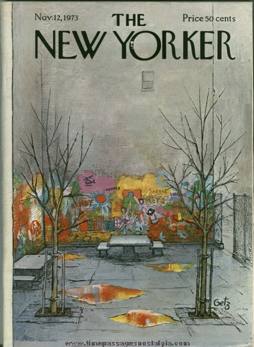 New Yorker Magazine - November 12, 1973 - Cover by Arthur Getz