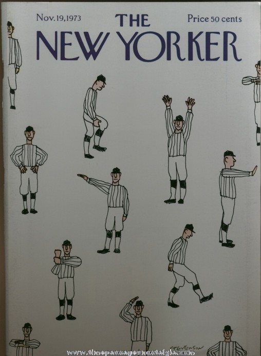 New Yorker Magazine - November 19, 1973 - Cover by James Stevenson