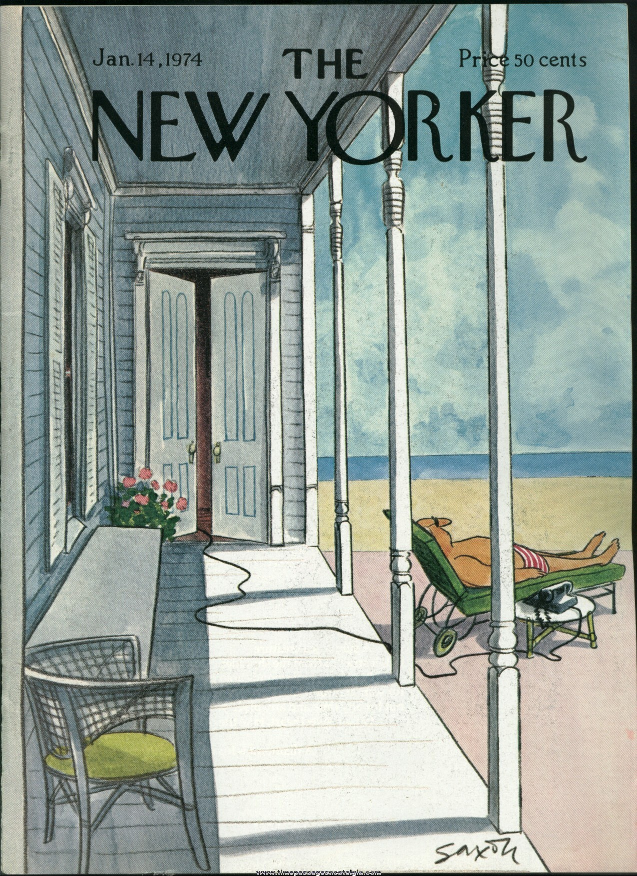 New Yorker Magazine - January 14, 1974 - Cover by Charles Saxon