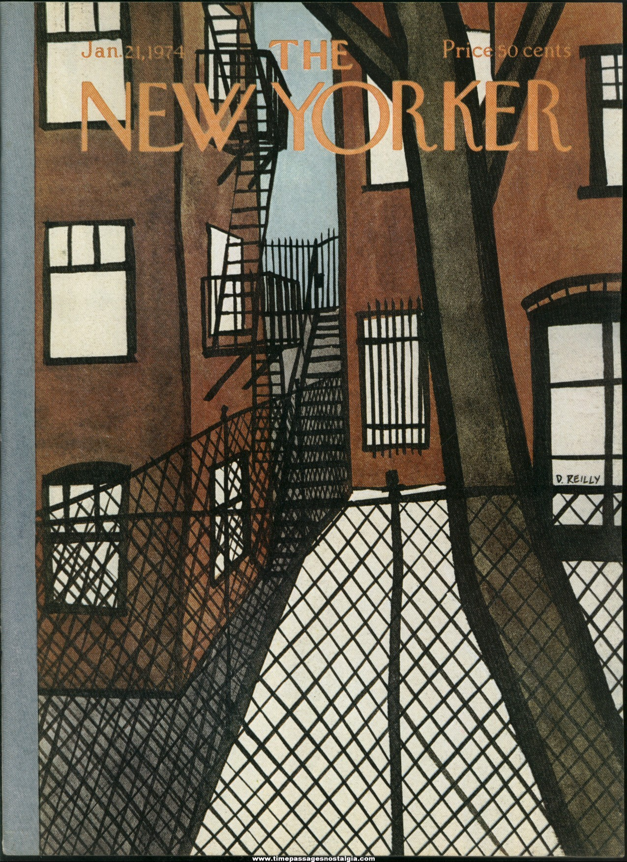 New Yorker Magazine - January 21, 1974 - Cover by Donald Reilly