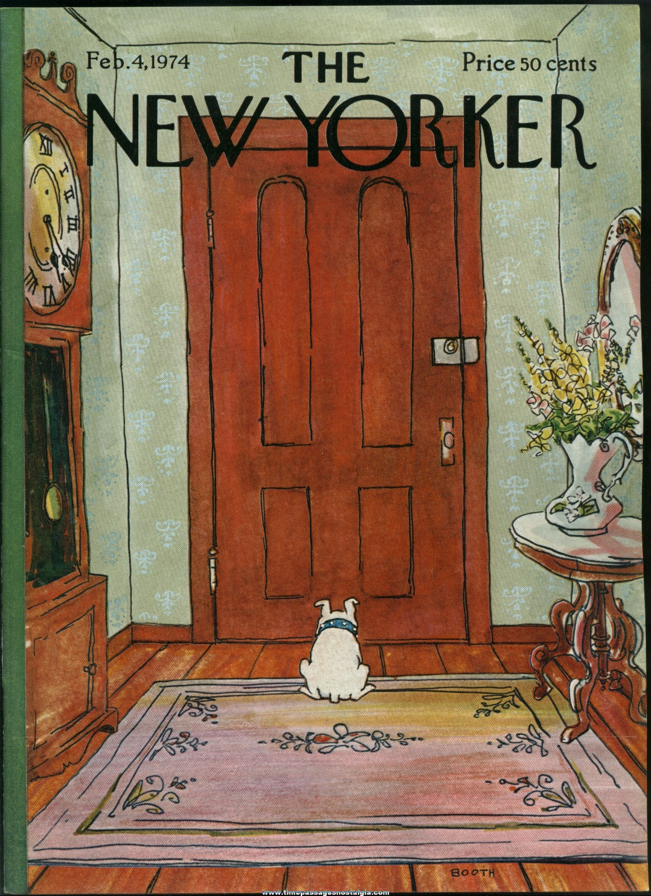 New Yorker Magazine - February 4, 1974 - Cover by George Booth