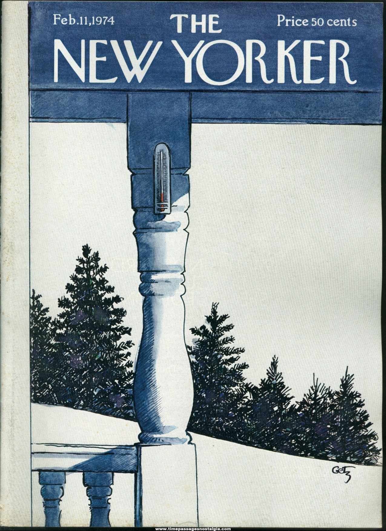 New Yorker Magazine - February 11, 1974 - Cover by Arthur Getz