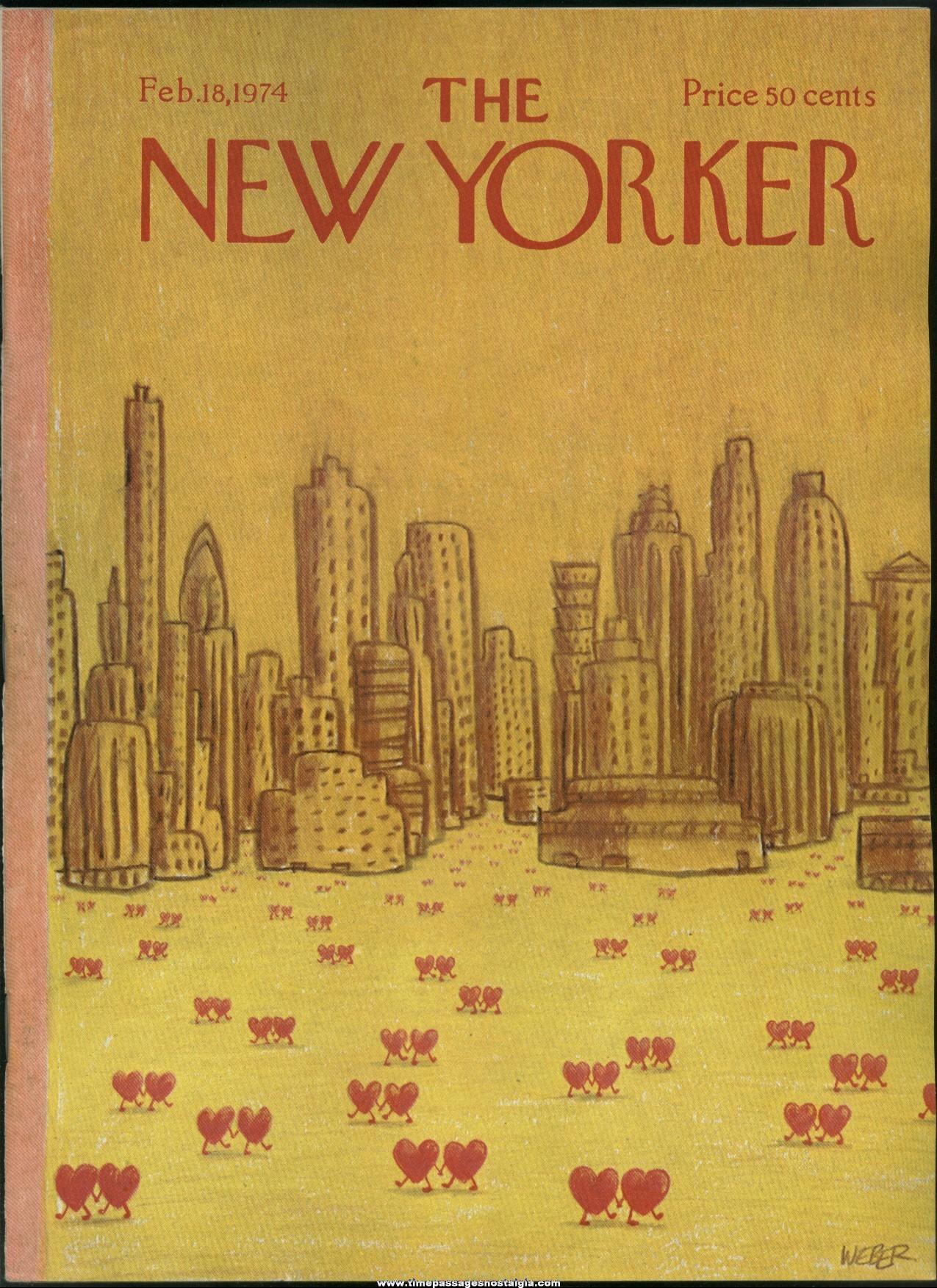 New Yorker Magazine - February 18, 1974 - Cover by Robert Weber
