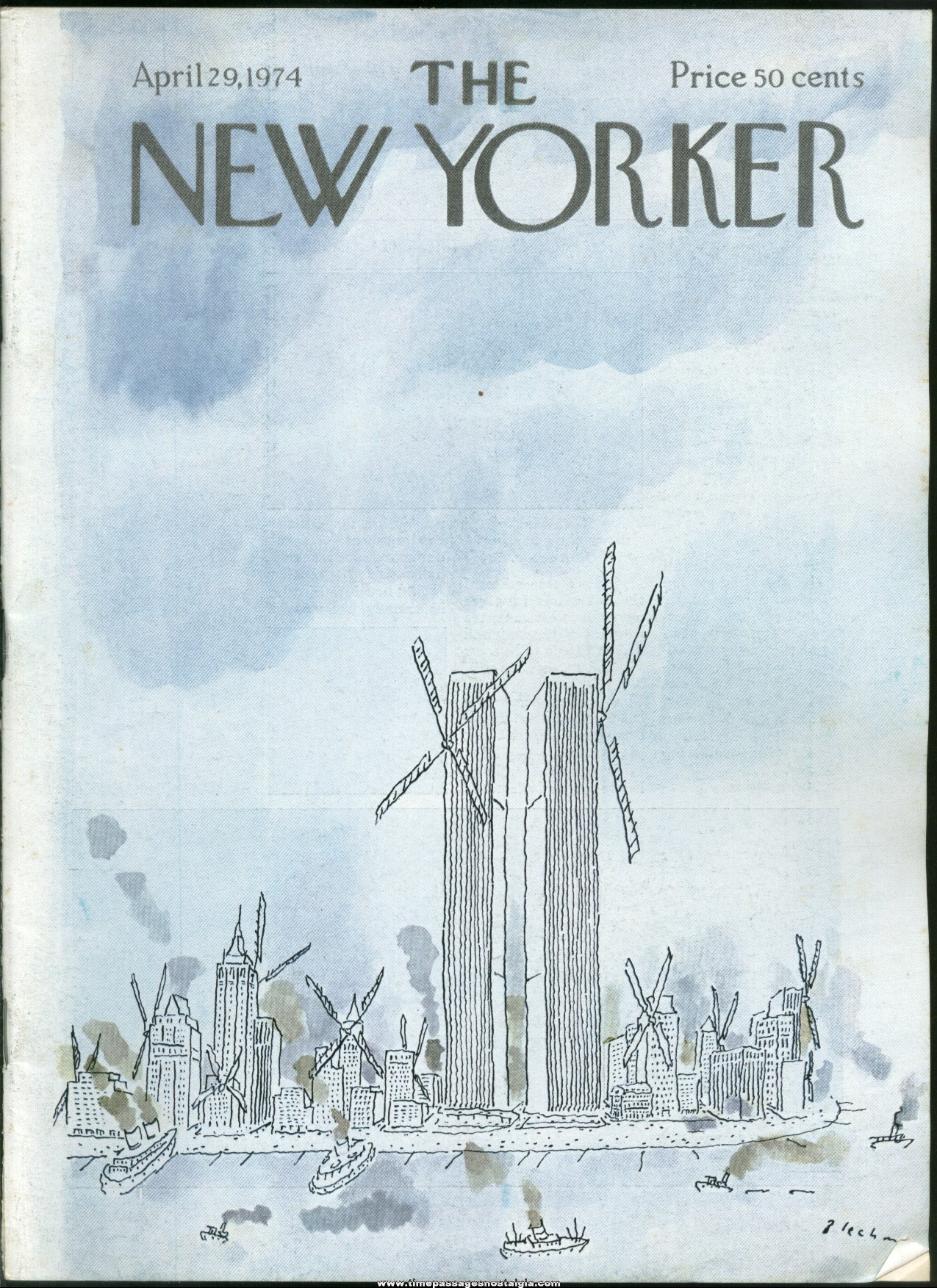 New Yorker Magazine - April 29, 1974 - Cover by R. O. Blechman
