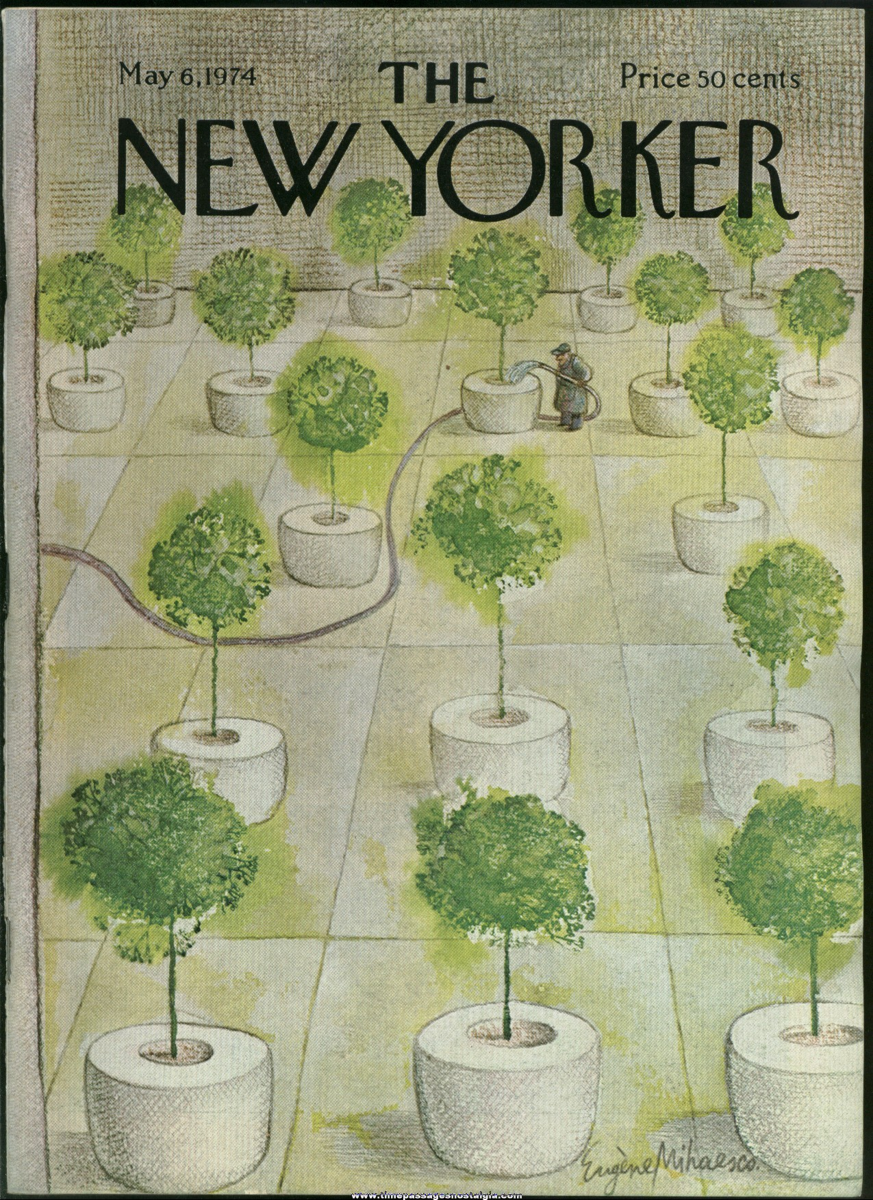 New Yorker Magazine - May 6, 1974 - Cover by Eugene Mihaesco