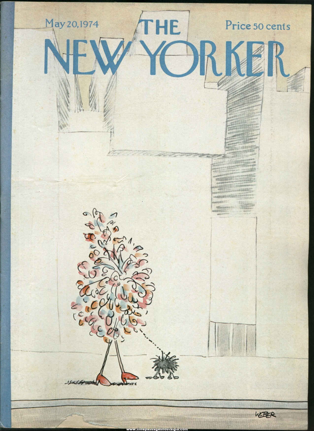 New Yorker Magazine - May 20, 1974 - Cover by Robert Weber