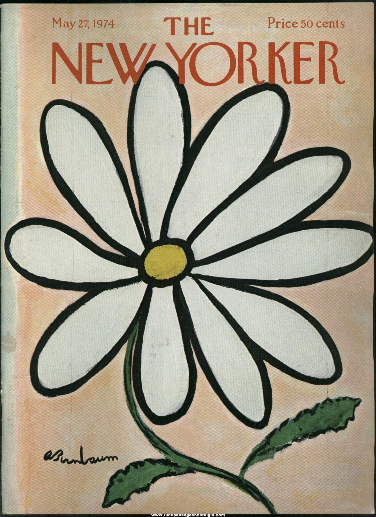 New Yorker Magazine - May 27, 1974 - Cover by Abe Birnbaum