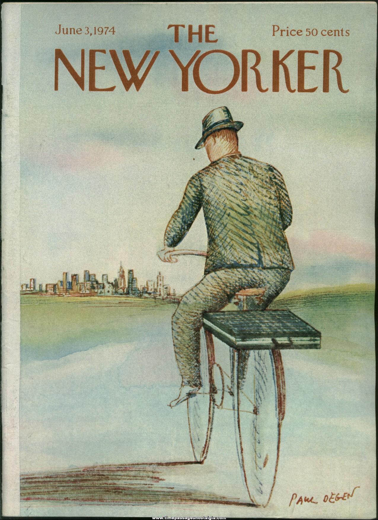 New Yorker Magazine - June 3, 1974 - Cover by Paul Degen