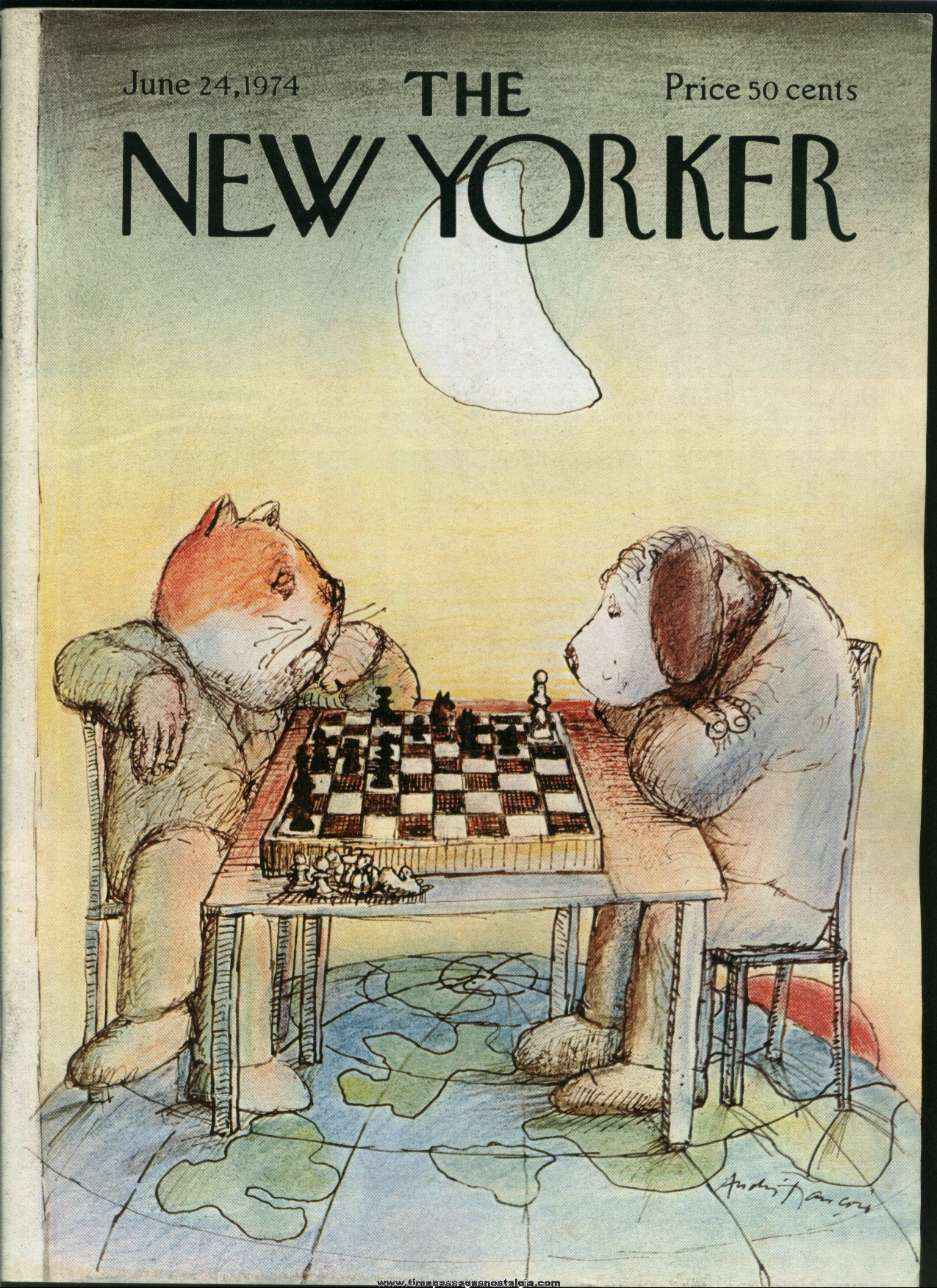 New Yorker Magazine - June 24, 1974 - Cover by Andre Francois