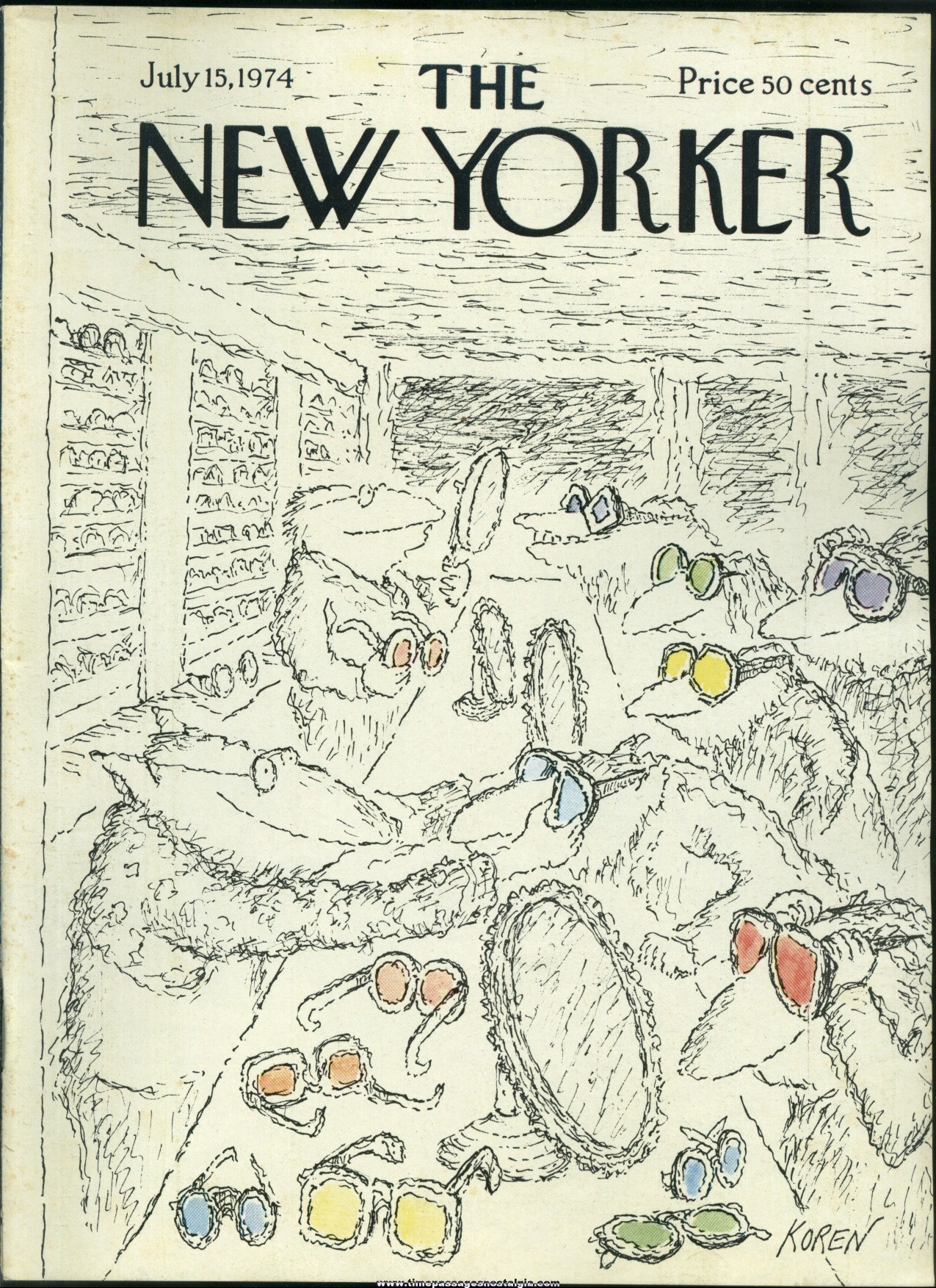 New Yorker Magazine - July 15, 1974 - Cover by Edward Koren