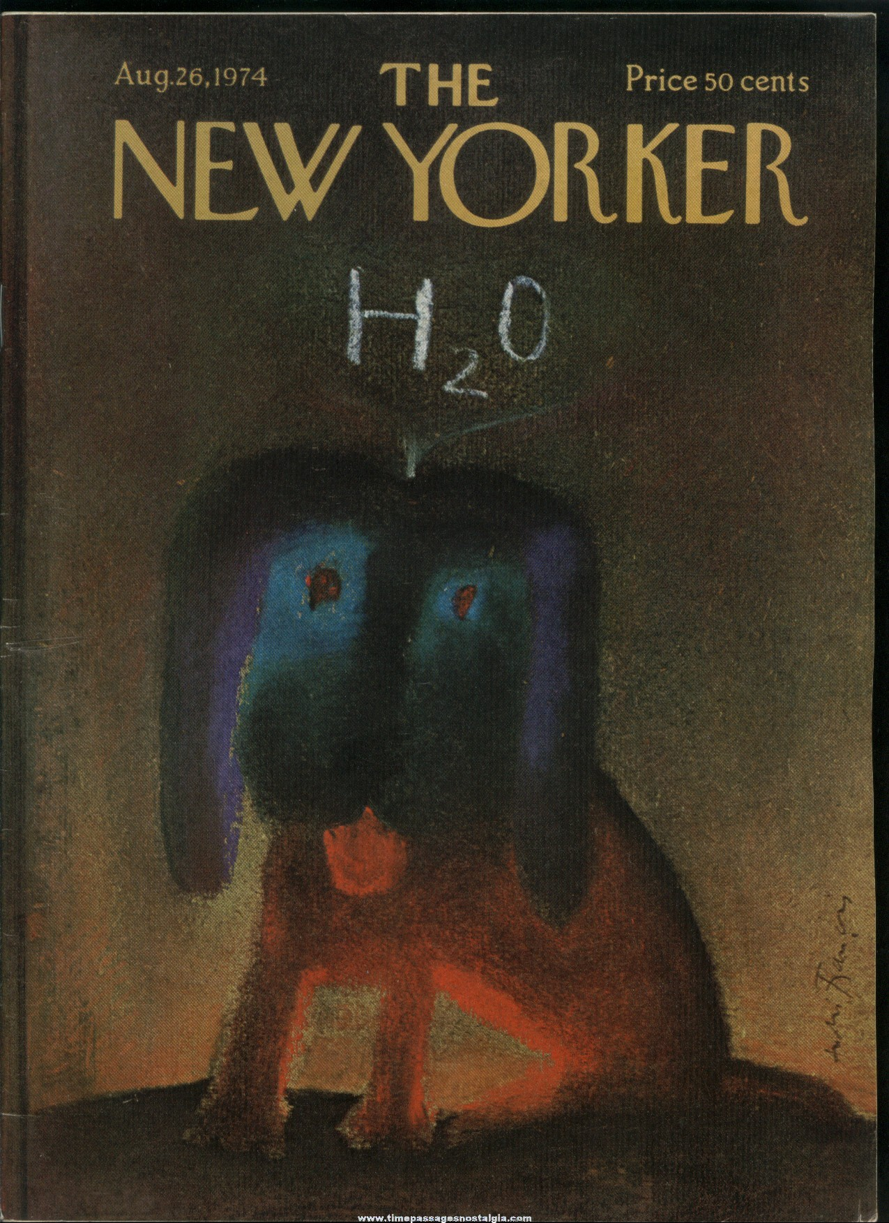 New Yorker Magazine - August 26, 1974 - Cover by Andre Francois
