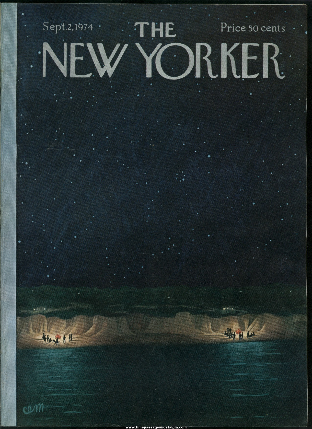 New Yorker Magazine - September 2, 1974 - Cover by Charles E. Martin