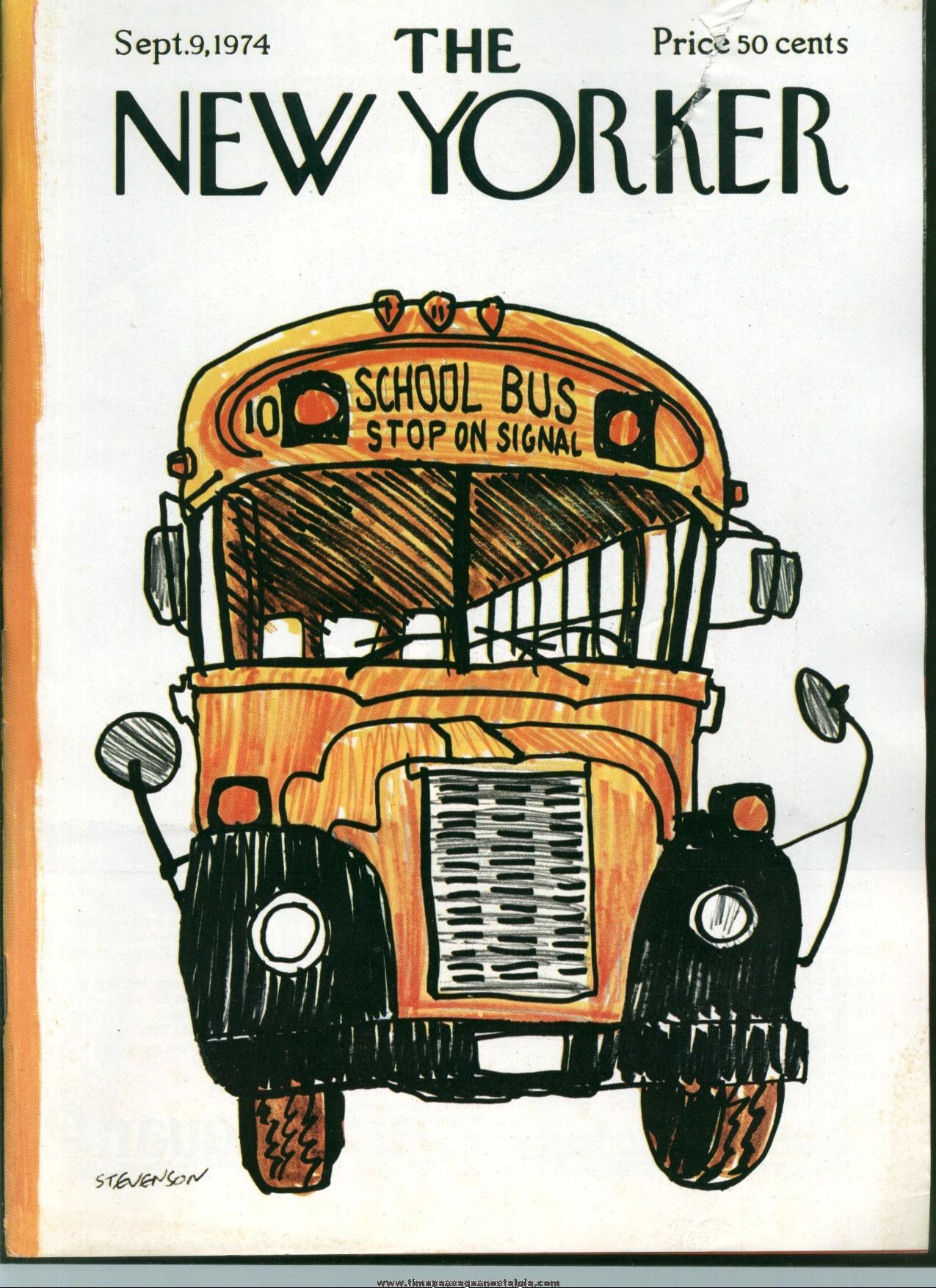 New Yorker Magazine - September 9, 1974 - Cover by James Stevenson