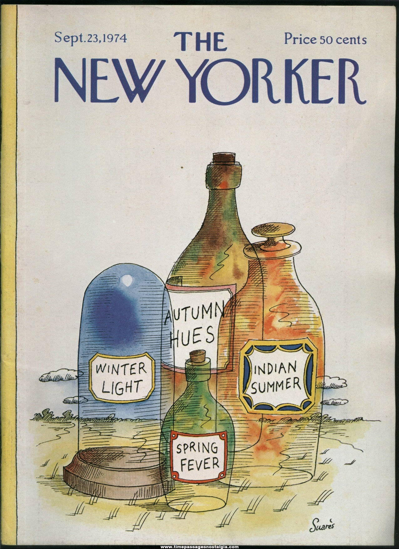 New Yorker Magazine - September 23, 1974 - Cover by Jean-Claude Suares