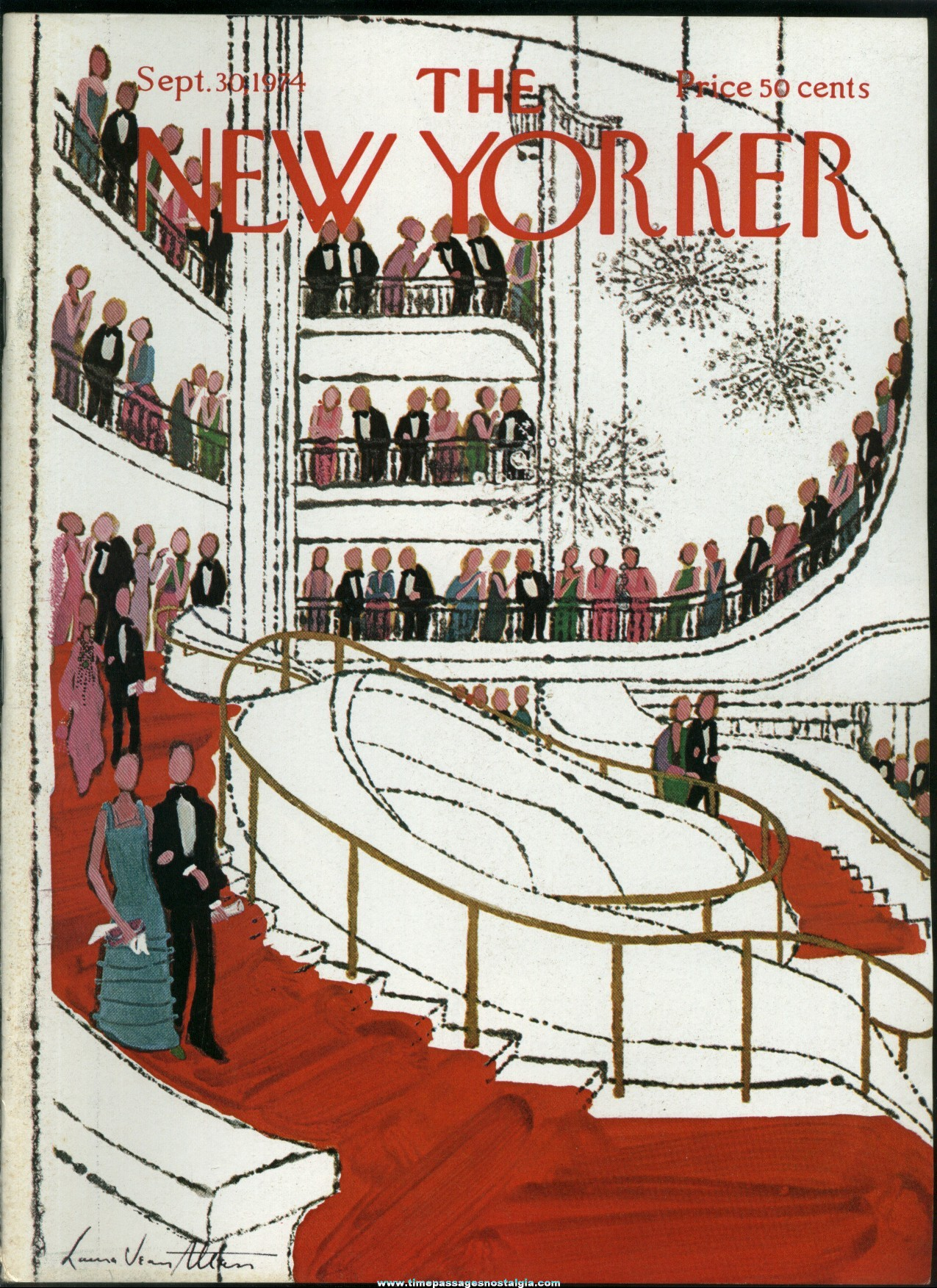 New Yorker Magazine - September 30, 1974 - Cover by Laura Jean Allen