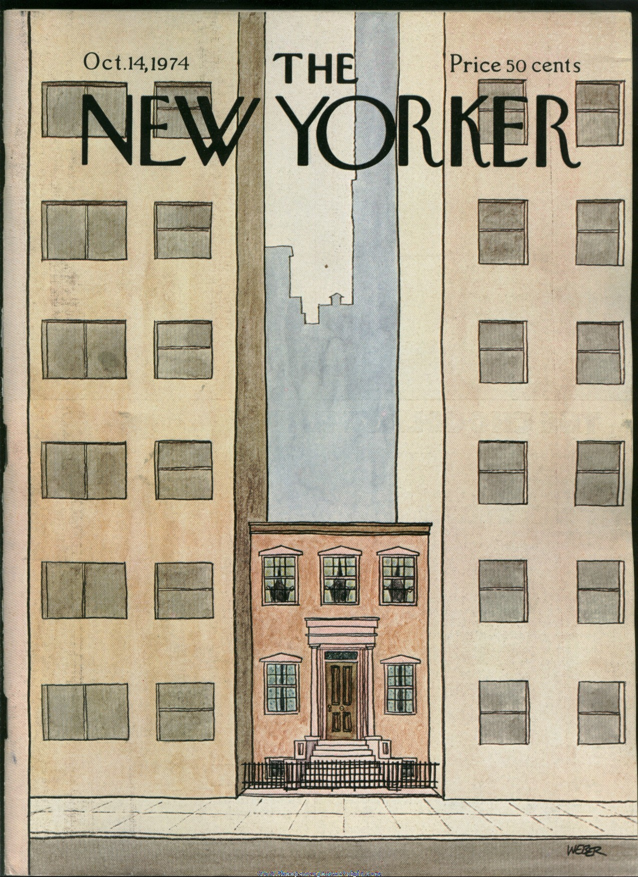 New Yorker Magazine - October 14, 1974 - Cover by Robert Weber