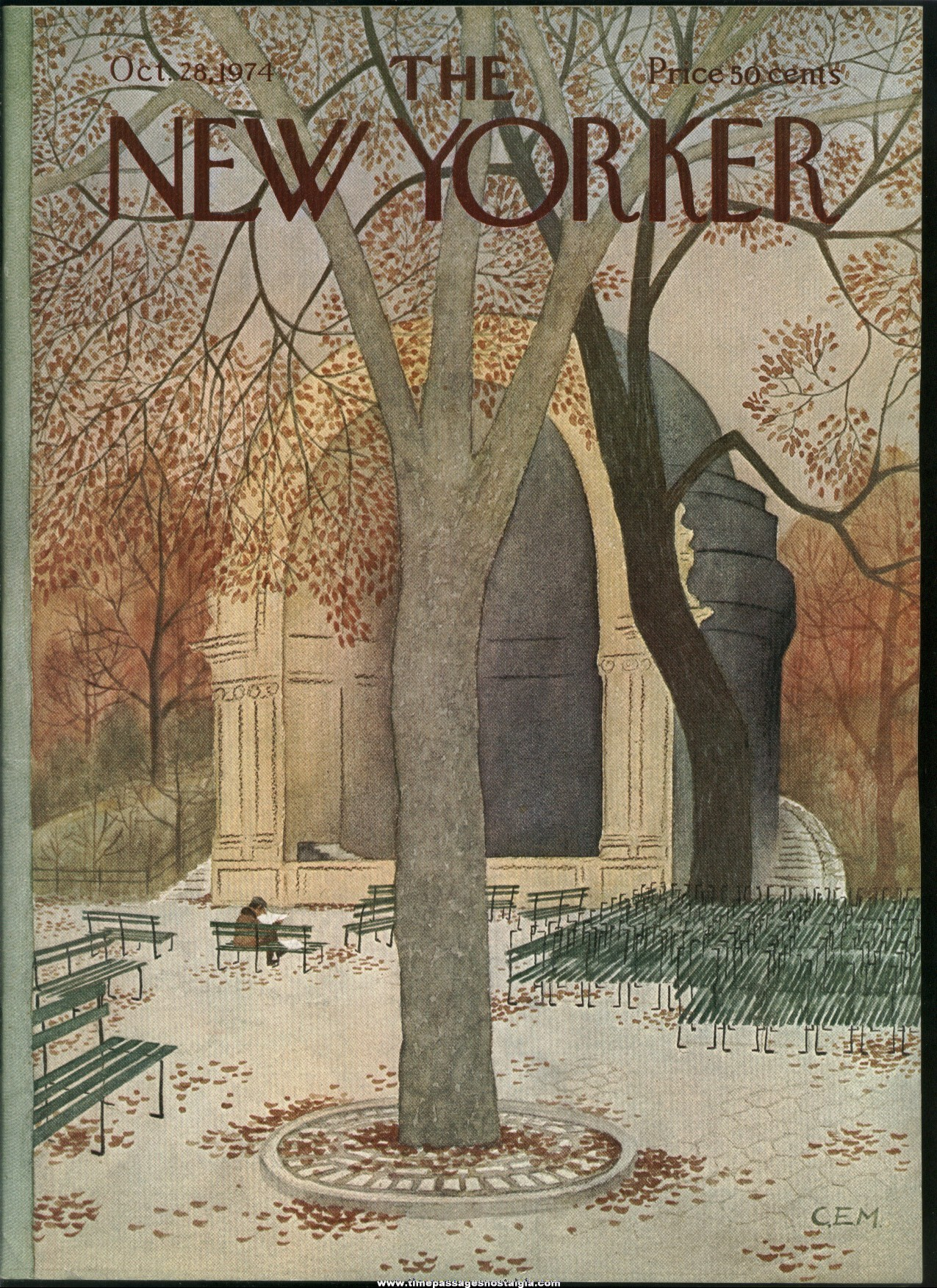 New Yorker Magazine - October 28, 1974 - Cover by Charles E. Martin