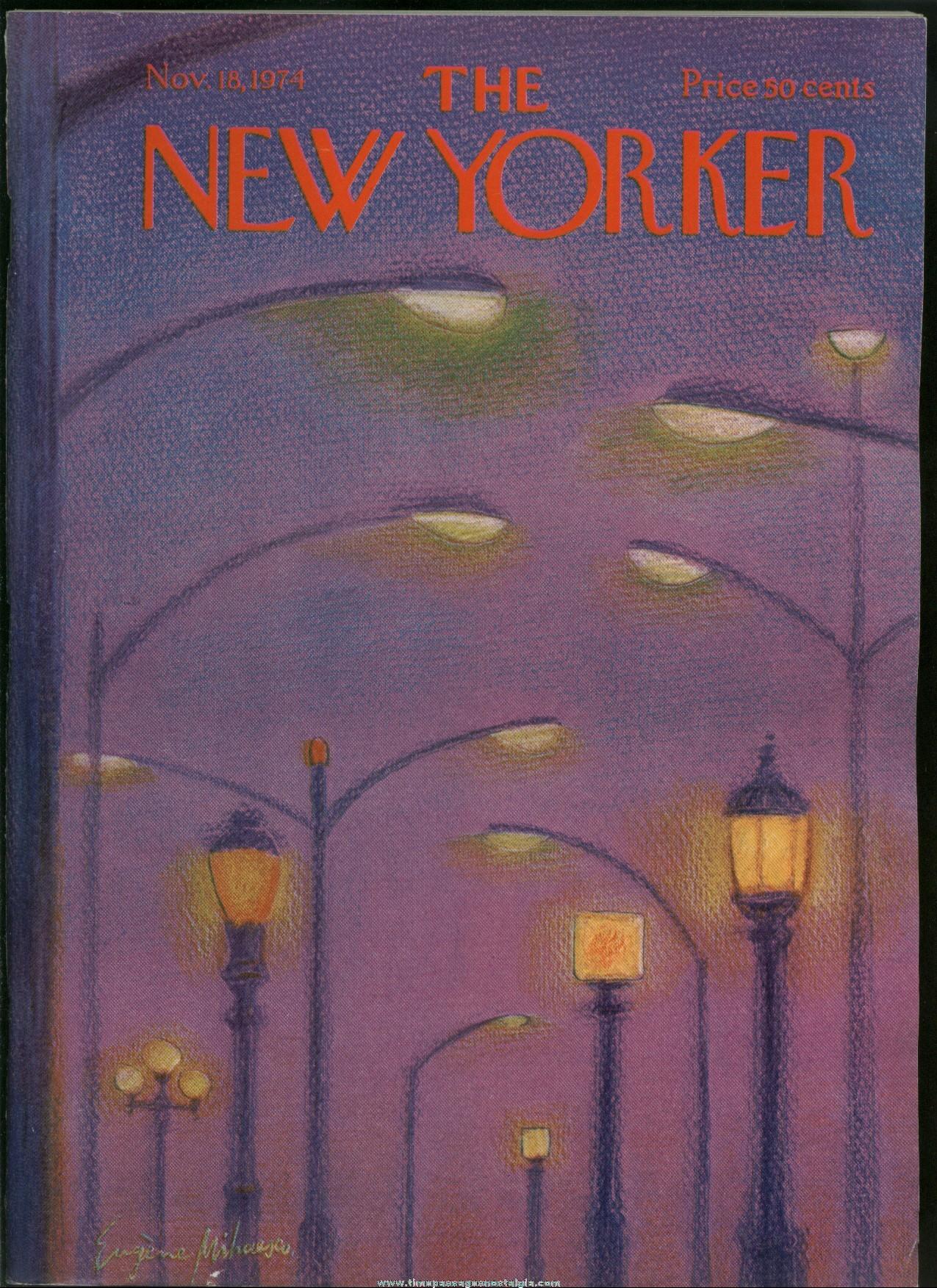 New Yorker Magazine - November 18, 1974 - Cover by Eugene Mihaesco