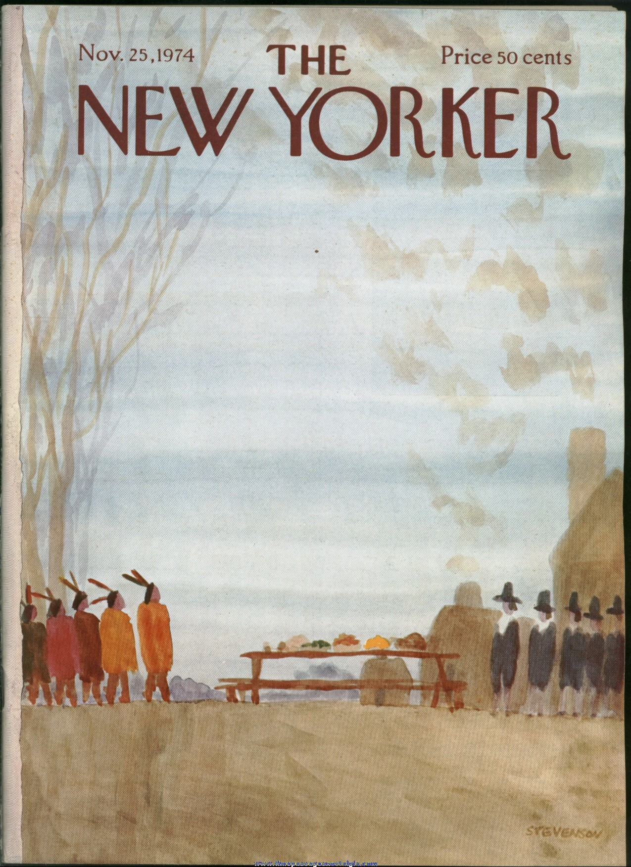 New Yorker Magazine - November 25, 1974 - Cover by James Stevenson
