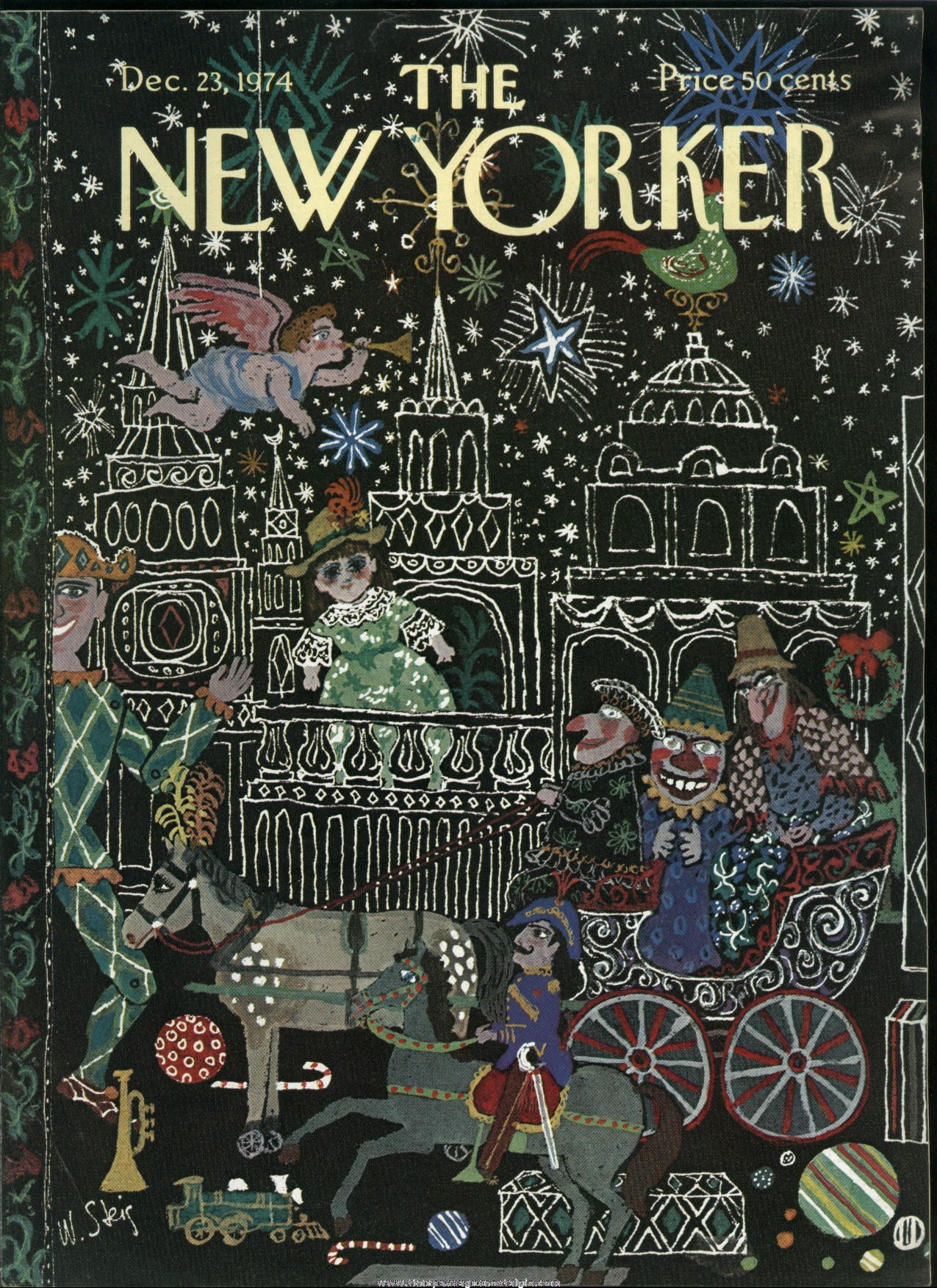 New Yorker Magazine - December 23, 1974 - Cover by William Steig