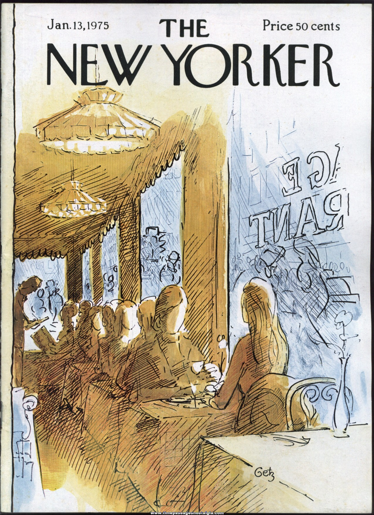 New Yorker Magazine - January 13, 1975 - Cover by Arthur Getz