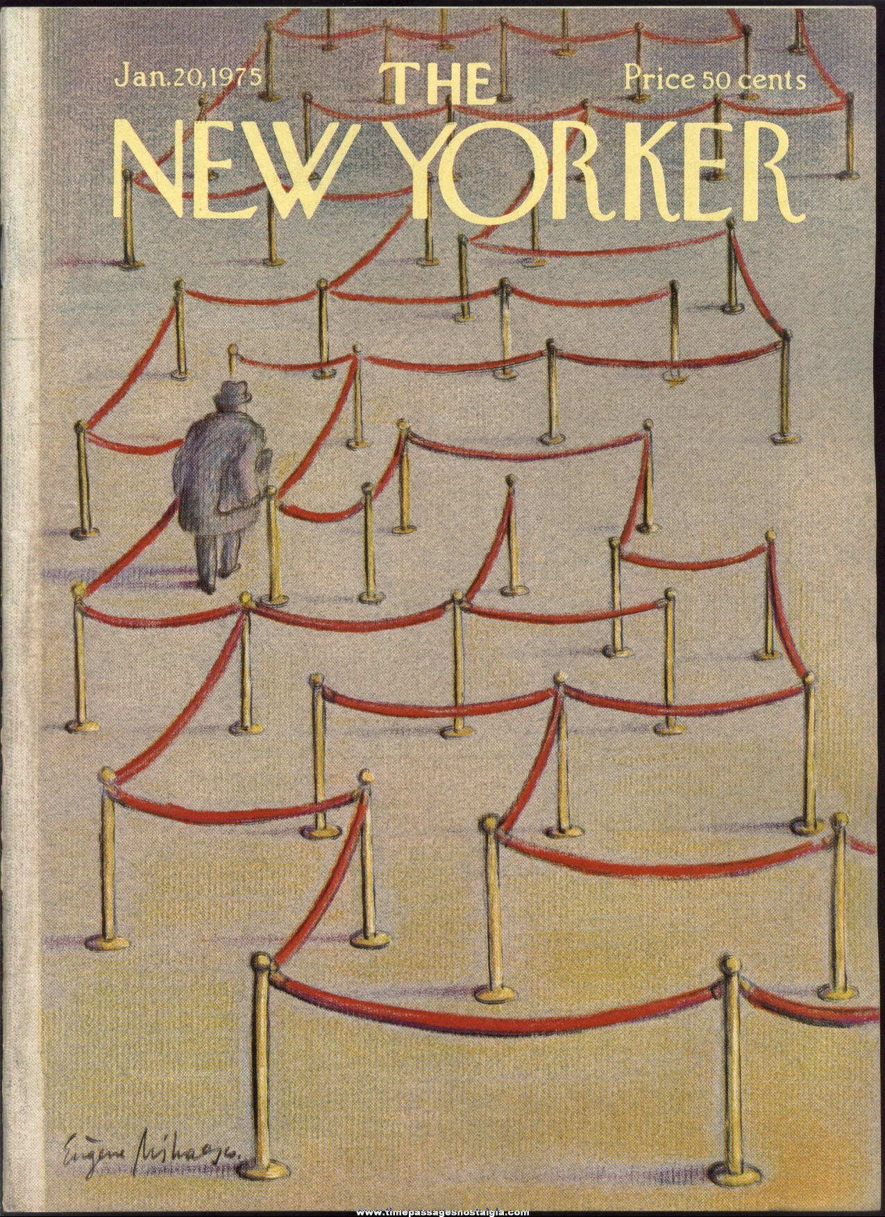 New Yorker Magazine - January 20, 1975 - Cover by Eugene Mihaesco