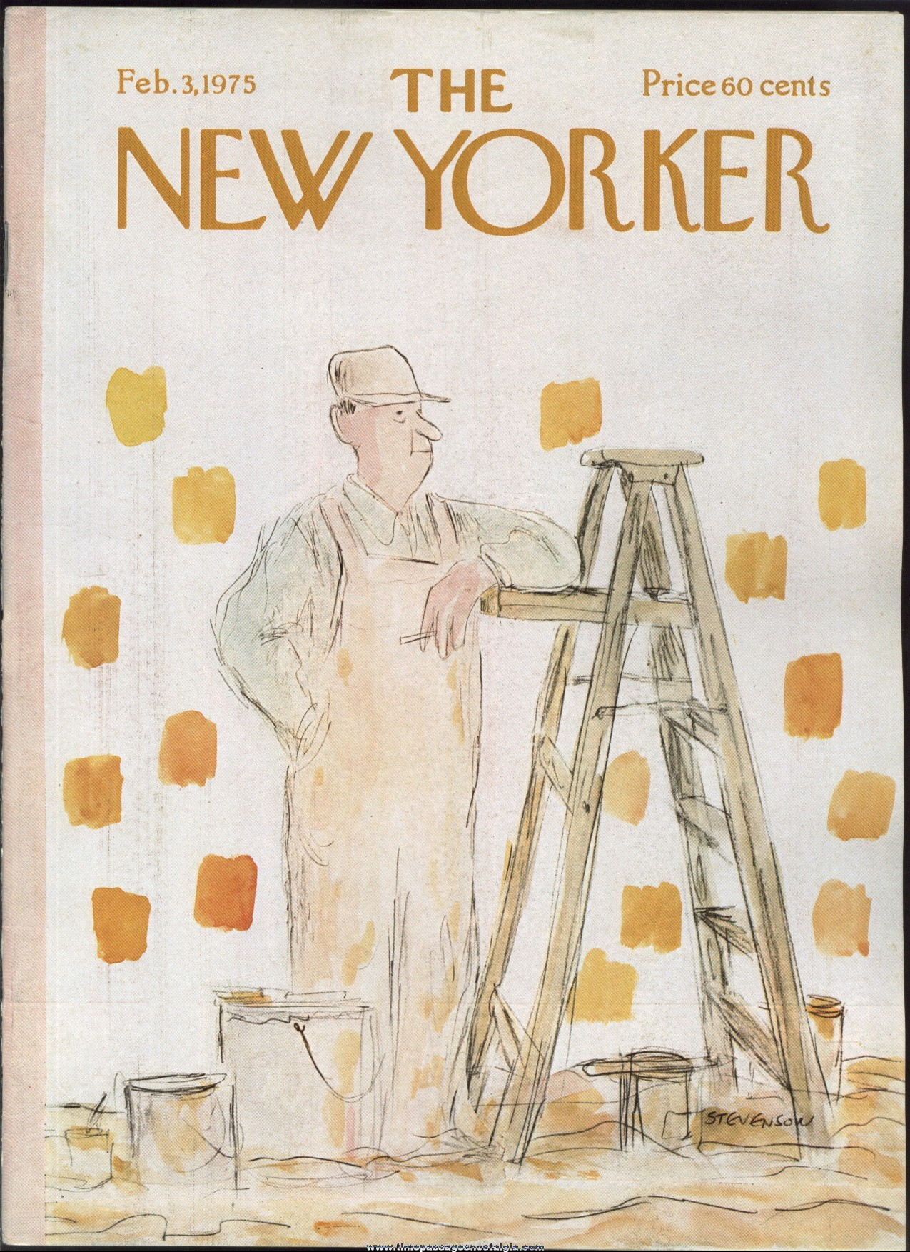 New Yorker Magazine - February 3, 1975 - Cover by James Stevenson