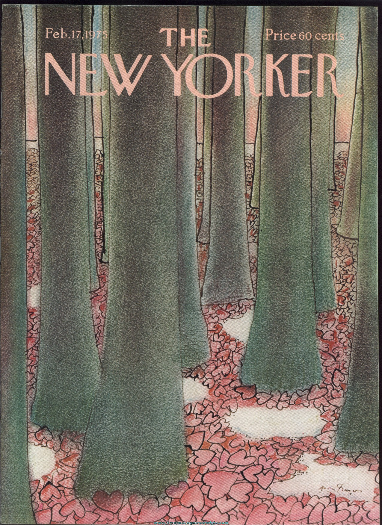 New Yorker Magazine - February 17, 1975 - Cover by Andre Francois