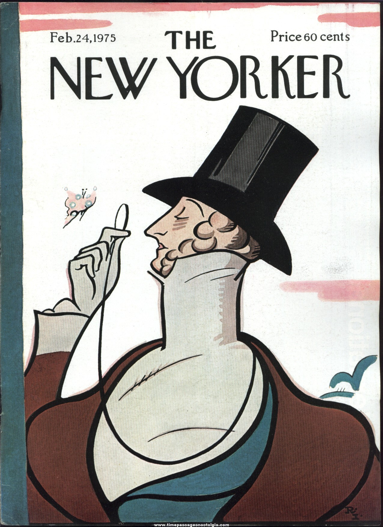 New Yorker Magazine - February 24, 1975 - Cover by Rea Irvin