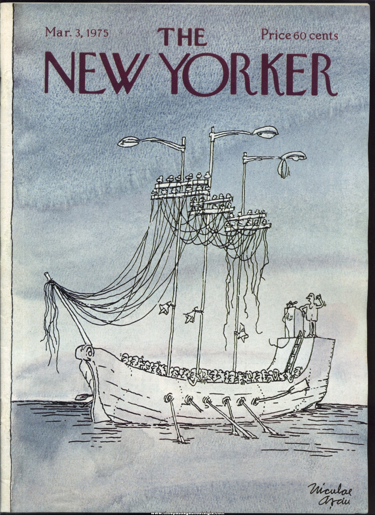 New Yorker Magazine - March 3, 1975 - Cover by Niculae Asciu