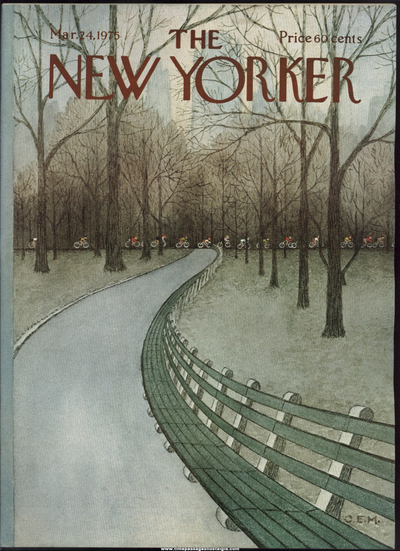 New Yorker Magazine - March 24, 1975 - Cover by Charles E. Martin