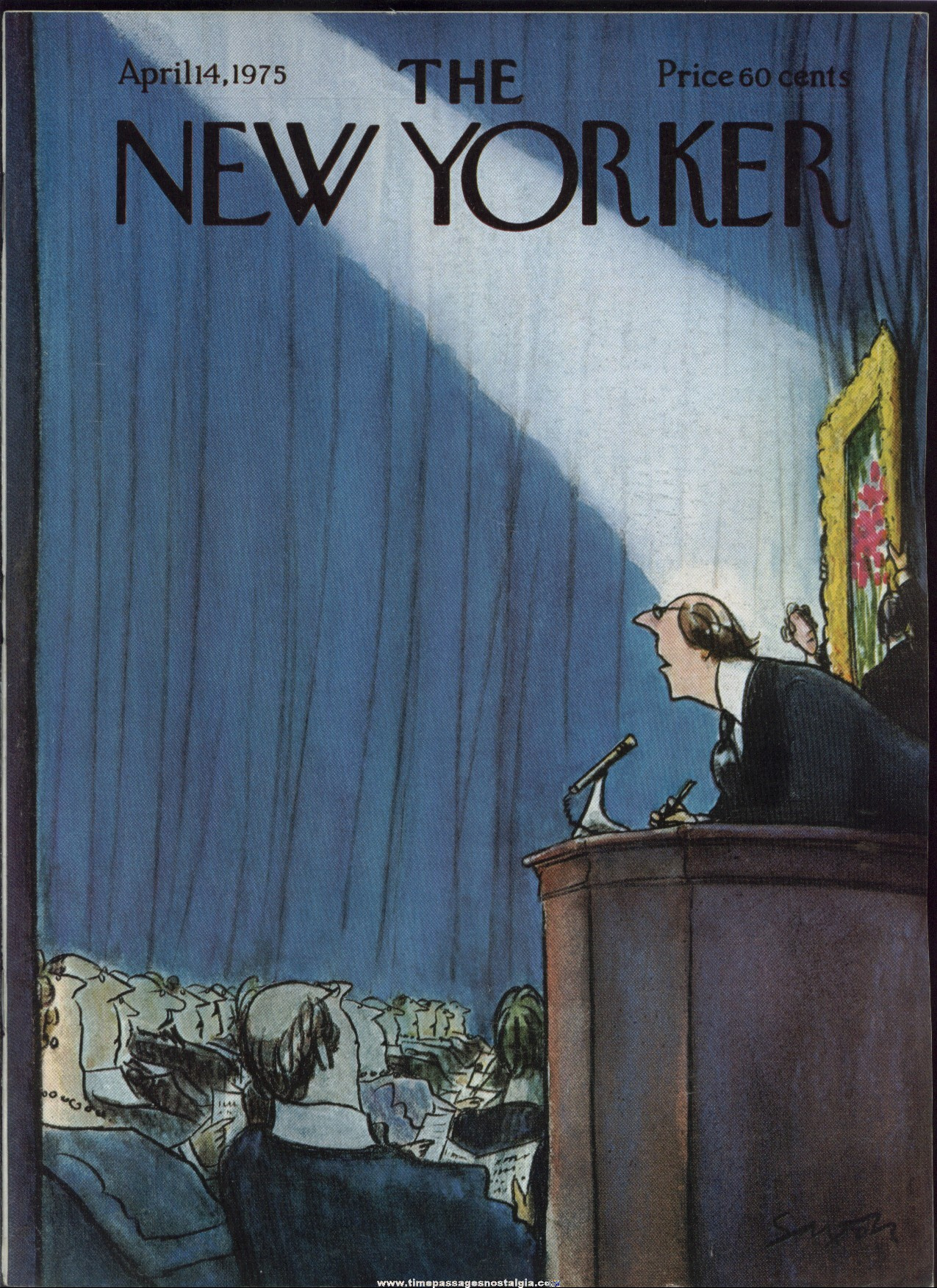 New Yorker Magazine - April 14, 1975 - Cover by Charles Saxon