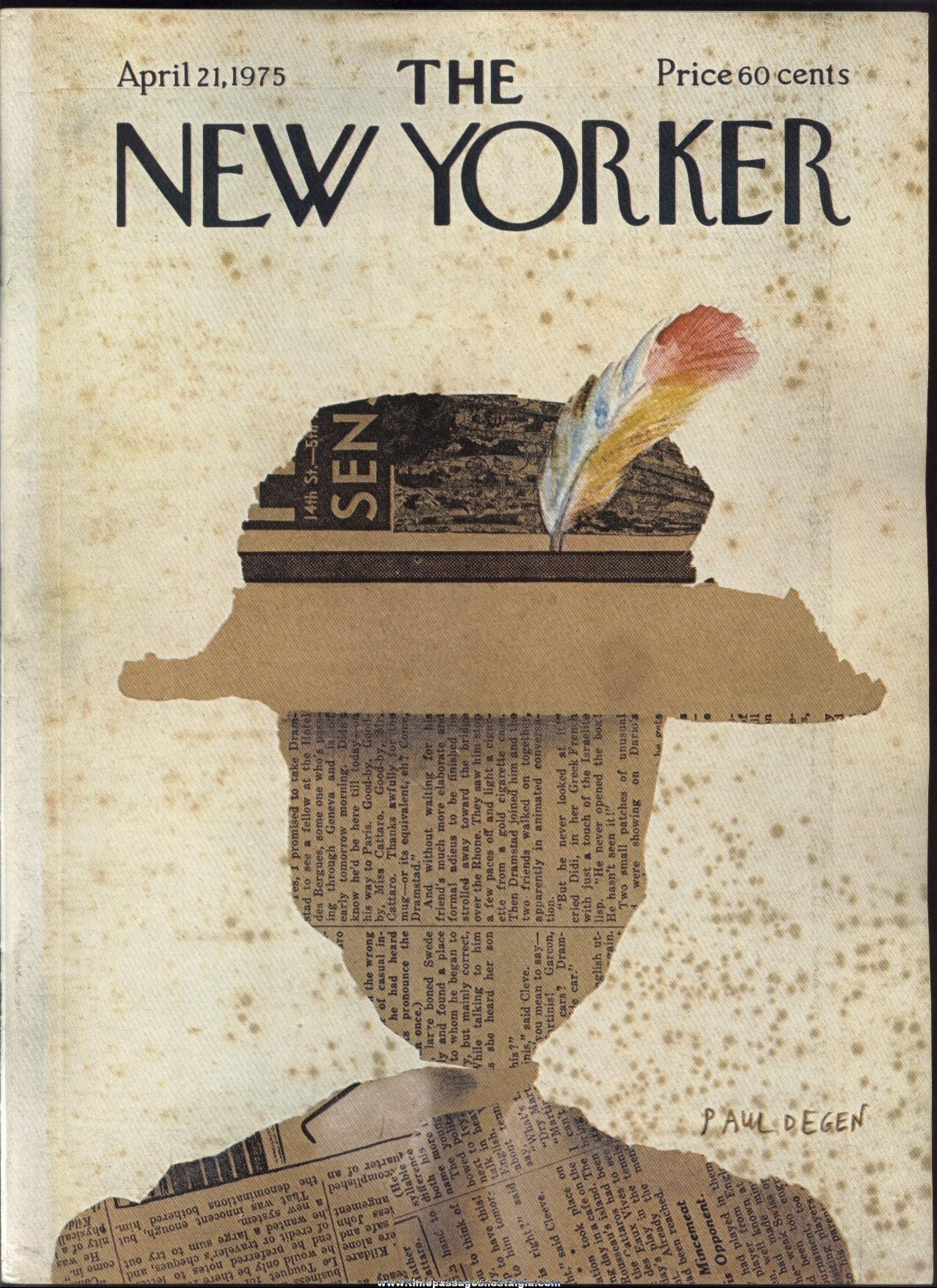 New Yorker Magazine - April 21, 1975 - Cover by Paul Degen