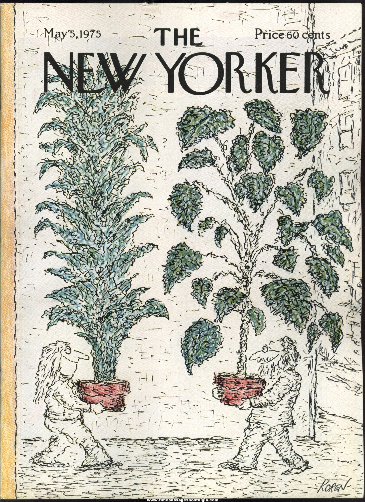 New Yorker Magazine - May 5, 1975 - Cover by Edward Koren